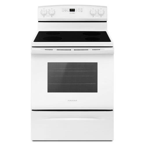30-inch Electric Range with Extra-Large Oven Window White