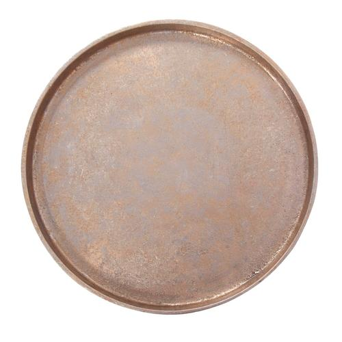Howard Elliott - Aluminum Footed Tray in Antiqued Gold, Large