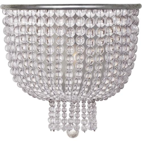 AERIN Jacqueline 1 Light 10 inch Burnished Silver Leaf Sconce Wall Light, Medium