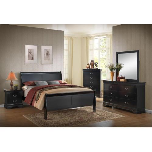 Gallery - Louis Philippe Black Bedroom Set
