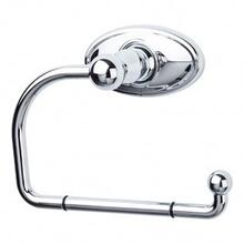 Edwardian Bath Tissue Hook Oval Backplate - Polished Chrome