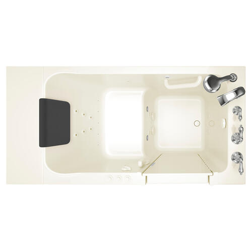 Acrylic Luxury Series Walk-in Tub with Combination Massage Left Drain  American Standard - Linen