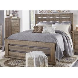 5/0 Queen Slat Headboard - Weathered Gray Finish