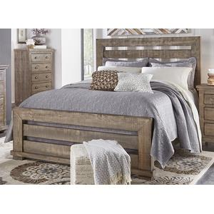 6/6 King Slat Bed - Weathered Gray Finish