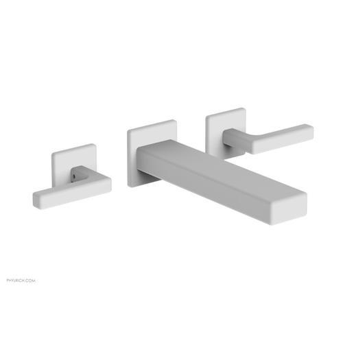 MIX Wall Lavatory Set - Lever Handles 290-12 - Satin White