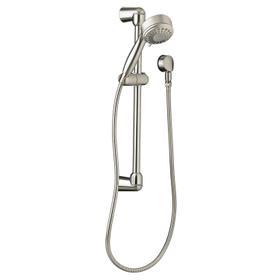 Modern 5-Function Shower System Kit - Brushed Nickel