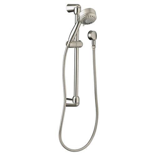 Modern 5-Function Shower System Kit - Brushed Nickel