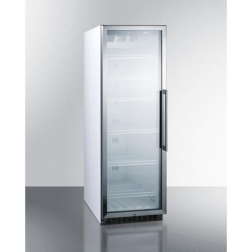 Product Image - Commercial Beverage Merchandiser Designed for the Display and Refrigeration of Beverages and Sealed Food, With 12.6 CU.FT. Capacity, Digital Thermostat and Self-closing Door With A Left Hand Swing