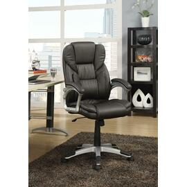 See Details - Transitional Dark Brown Office Chair