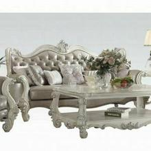 ACME Versailles Sofa w/7 Pillows - 52125A - Vintage Gray PU & Bone White