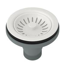 Manual Basket Strainer without Remote Pop-Up - Biscuit