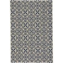 Finesse-Tile Navy Machine Woven Rugs