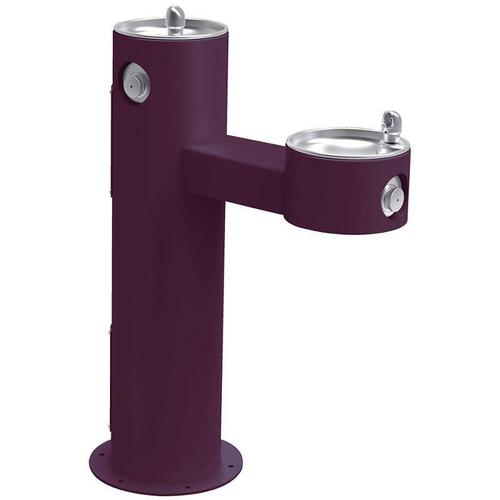 Elkay - Elkay Outdoor Fountain Bi-Level Pedestal Non-Filtered, Non-Refrigerated Purple