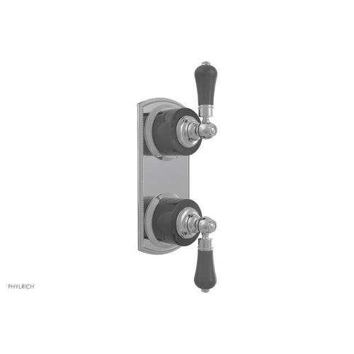 "REGENT 1/2"" Thermostatic Valve with Volume Control or Diverter Black Onyx Handles 4-412C - French Brass"
