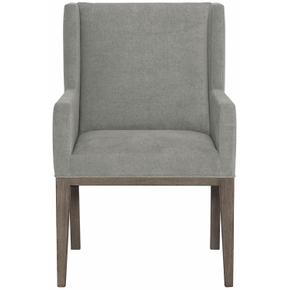 Linea Upholstered Arm Chair in Cerused Charcoal (384)