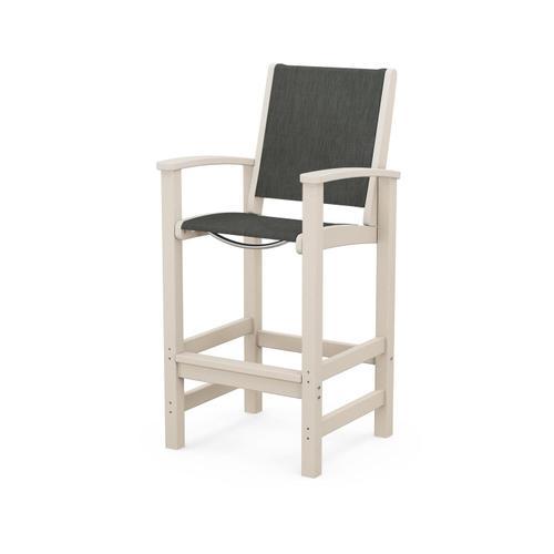 Polywood Furnishings - Coastal Bar Chair in Sand / Ember Sling