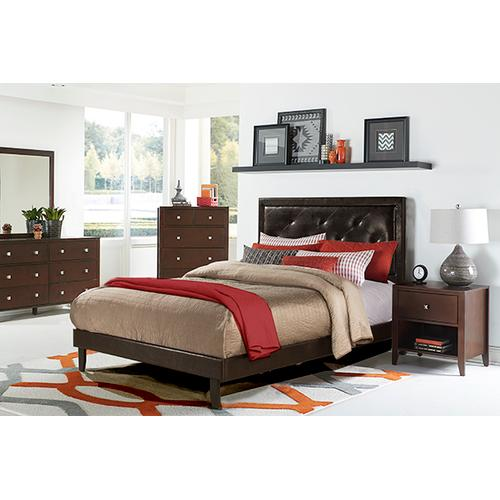 Hillsdale Furniture - Becker Queen Bed Set - Brown Faux Leather