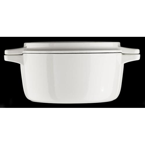 Professional Cast Iron 4-Quart Casserole Almond Cream