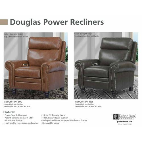 DOUGLAS - TWILIGHT Power High Leg Recliner
