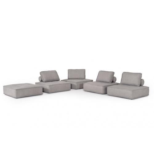 VIG Furniture - Divani Casa Nolden - Modern Grey Fabric Modular Sectional Sofa