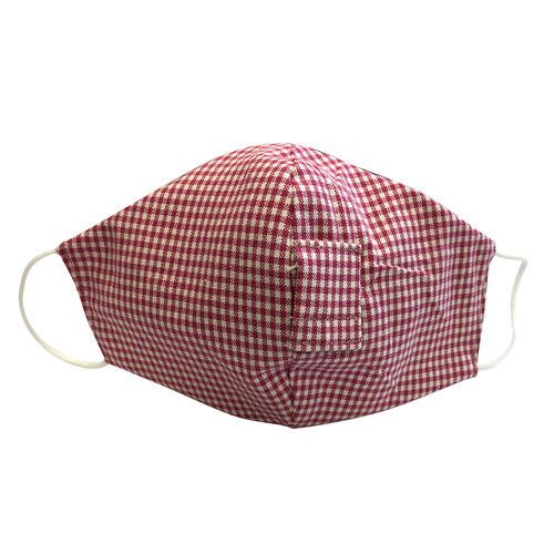 Happy Hour Reusable Face Mask in Raspberry Red Gingham Check