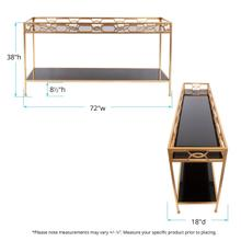 See Details - Kyron Metal Console Table