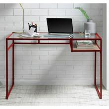 ACME Yasin Desk - 92584 - Red & Glass