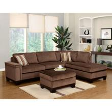 Opulence Brown Reversible Sectional