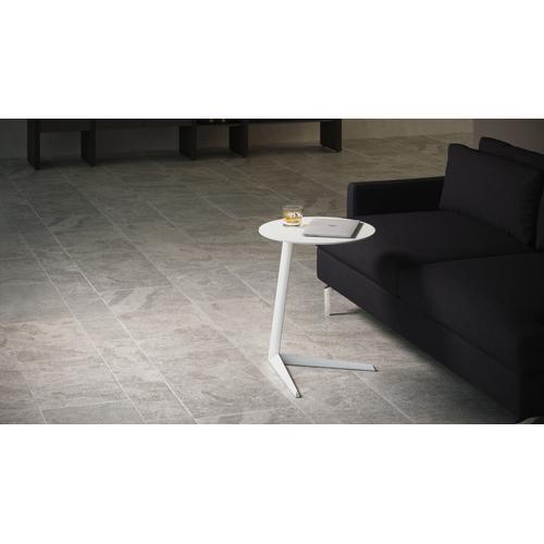 BDI Furniture - Milo Aluminum 1065 Laptop Stand / Side Table in Salt