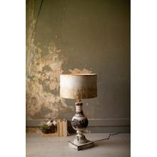 See Details - metal table top lamp with metal shade