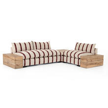 W/ Corner + End Table Configuration Zella Garnet Cover Grant Sectional W/ Chair + Tables