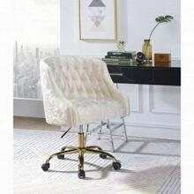 ACME Levian Office Chair - 92517 - Vintage Cream Velvet & Gold