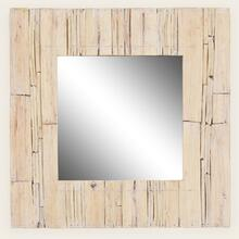 See Details - Natural Wood Trimmed Mirror