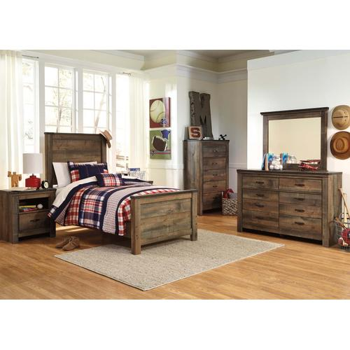 Trinell Bedroom Mirror Brown