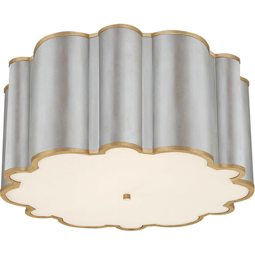 Alexa Hampton Markos 4 Light 26 inch Burnished Silver Leaf with Gild Flush Mount Ceiling Light in Burnished Silver Leaf and Gild, Grande