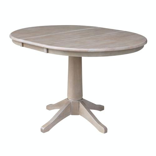 Round Extension Table in Taupe Gray