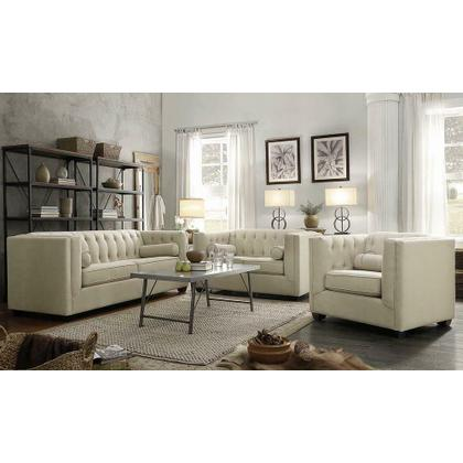 See Details - Cairns Transitional Oatmeal Sofa