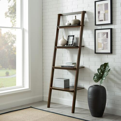 Currant Leaning Bookshelf, Black Walnut