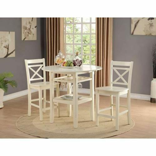 ACME Tartys Counter Height Table - 72545 - Cream