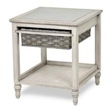 B59101 - 1-Basket End Table - Two Toned Gray Finish