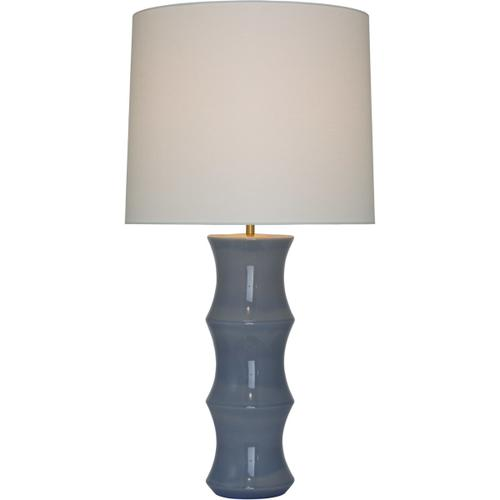 AERIN Marella 37 inch 15.00 watt Polar Blue Crackle Table Lamp Portable Light, Large