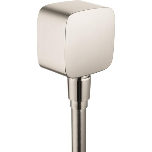 AXOR - Brushed Nickel Wall Outlet SoftCube with Check Valves