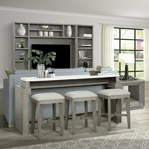 Parker House - PURE MODERN Everywhere Console with 3 Stools
