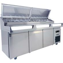 See Details - 3 Door Prep-table Refrigerator With Stainless Solid Finish (115v/60 Hz Volts /60 Hz Hz)