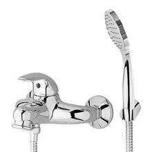 Exposed single lever bath-shower mixer with antisplash diverter, handshower Z94717.C, spray support, shower hose 1500 mm.