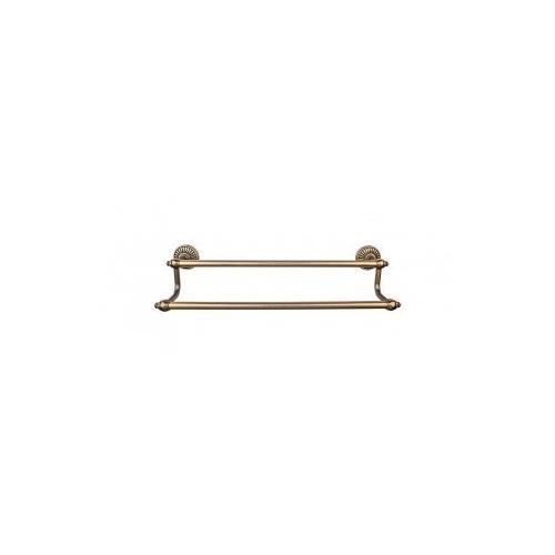 Tuscany Bath Towel Bar 18 Inch Double - German Bronze
