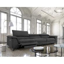 View Product - Divani Casa Maine - Modern Dark Grey Fabric Sofa w/ Electric Recliners