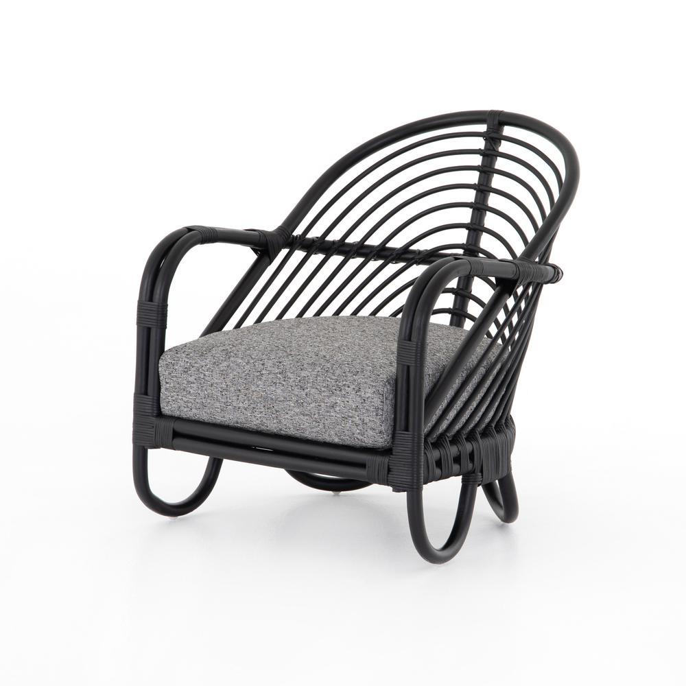 Lago Graphite Cover Marina Chair, Ebony Rattan