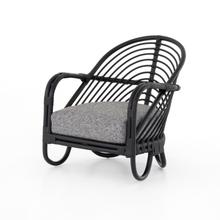 Lago Graphite Cover Marina Chair, Ebony Rattan