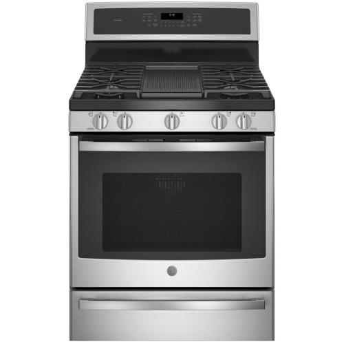 """GE Profile - GE Profile™ 30"""" Smart Dual-Fuel Free-Standing Convection Range with Warming Drawer"""